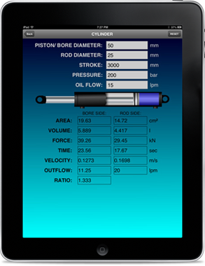 Hydraulic Cylinder Calculator App