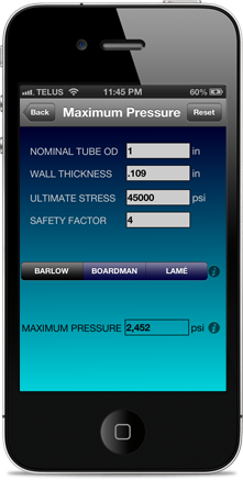 Hydraulic Tube Calculator app
